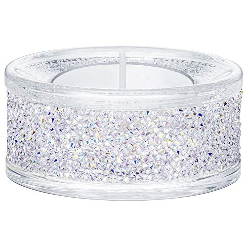 Swarovski Crystal Shimmer Tea Light Candle Holder, Aurora Borealis AB - Aurora Candle