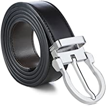 Mens Belt 100% Leather Dress Belt Grade A Genuine Italian Leather Reversible Belts for Men