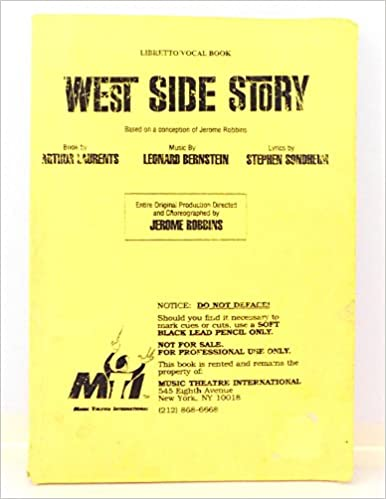 west side story libretto vocal book based on a conception of jerome robbins