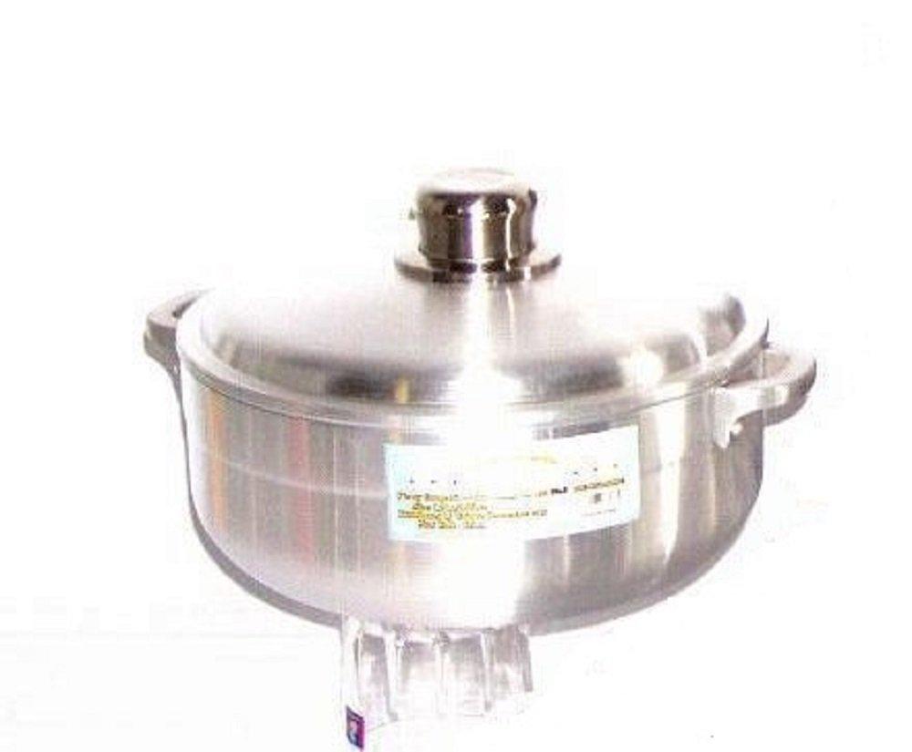 Uniware Heave Duty Aluminum Calderon/Pot with Aluminum Lid Cover, Silver (11.33 Qt (11LT)) 9999-11