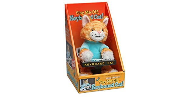 Amazon.com: ThinkGeek Keyboard Cat Animatronic Plush [Toys & Games] Holiday Toy: Toys & Games