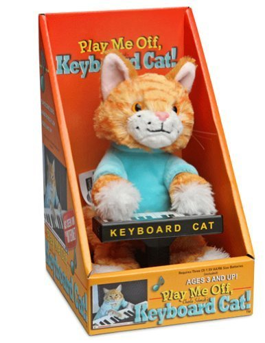 ThinkGeek Keyboard Cat Animatronic Plush [Toys & Games] Holiday Toy