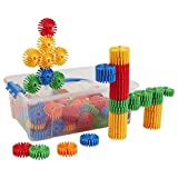 ECR4Kids Jumbo Gears Galore Math Manipulatives Building Kit, Educational Sensory Learning Toys for Children (90-Piece Set)