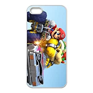iPhone 5 5s Cell Phone Case White Mario Kart 8 LV7963951
