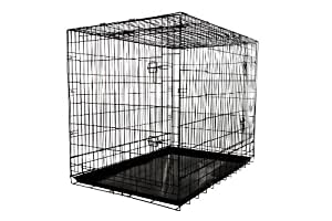 Amazon Com Allmax 3 Door Folding Metal Dog Crate With