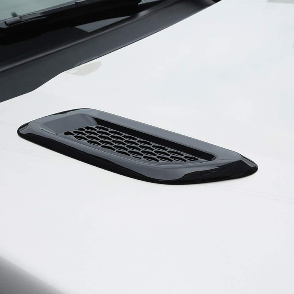ABS Plastic Front Slat Air Vent Outlet Cover Trim for Landrover Discovery 4 Freelander 2 RR Evoque, Jaguar F-Pace X761Black Silver Autobro