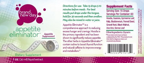 Appetite Eliminator-1OZ-Appetite Suppressant, With Hoodia Gordonii Cactus Extract, For Diet, Weight Loss, Boost Thyroid by New (Gordonii Diet Weight Loss)