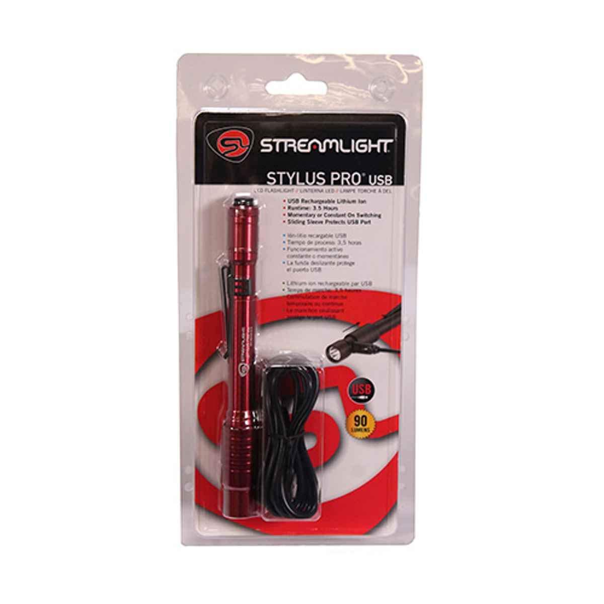 Streamlight 66136 Stylus Pro USB 120 V, Rot