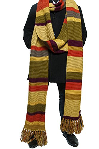 Doctor Who Scarf Season 16 -Official BBC Tom Baker 18 ft Long Scarf - by (Fourth Doctor Season 18 Costume)