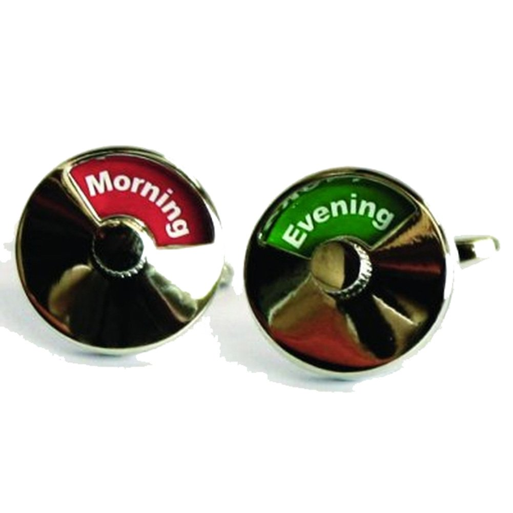 Mens Executive Cufflinks Career Collection Moving Time of Day Morning Afternoon Evening Cuff Links