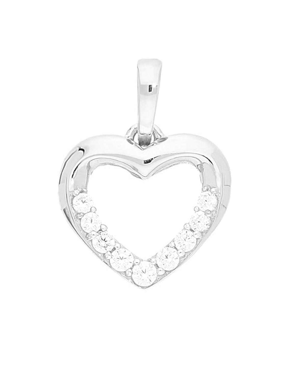 393354616cce Barato MyGold colgante de plata (sin cadena) Plata de ley 925 circonita 16  mm x 12 mm Corazón ...