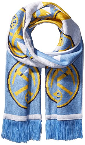fan products of NBA Denver Nuggets Unisex Repeating Logo Scarf, Blue, One Size