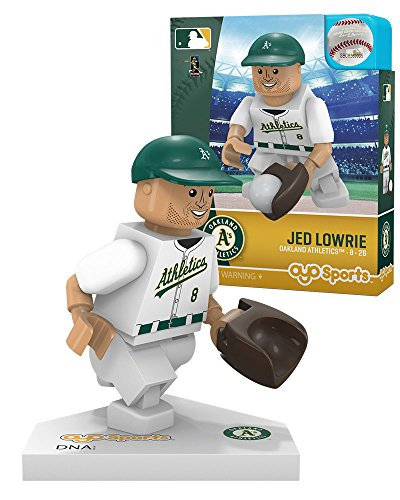 Oyo Sportstoys MLB Oakland Athletics Jed Lowrie Minifigure, Small, White