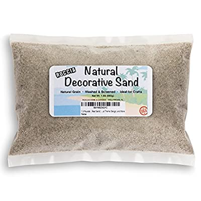 1.5 Pounds - Real Sand - Natural Color - For Interior Decor, Vase Filler, Sand Crafts, Nautical Theme Design, and More