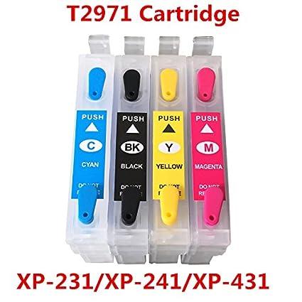 syoon 1set para Epson t2971 cartucho de tinta recargable para ...