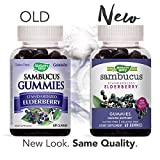 Natures Way Sambucus Elderberry Gummies, Herbal Supplements with Vitamin C and Zinc, Gluten Free, Vegetarian, 60 Gummies (Packaging May Vary)