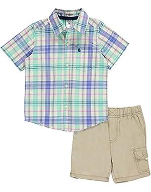 Carters Toddler Boys Plaid Pocket Shorts Set