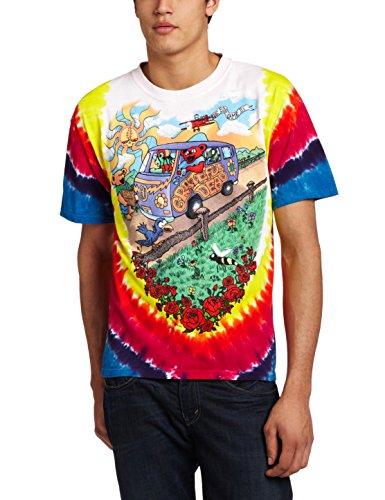 Liquid Blue Men's Grateful Dead Summer Tour Bus T-Shirt, Multi, Large (Grateful Dead Tie Dye T-shirt)