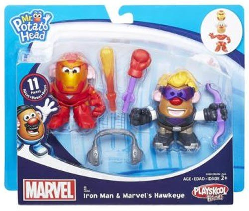 Mr Potato Head Costume Toddler (Potato Head MPH Marvel Mashup Hawkeye & Iron Man Toy)