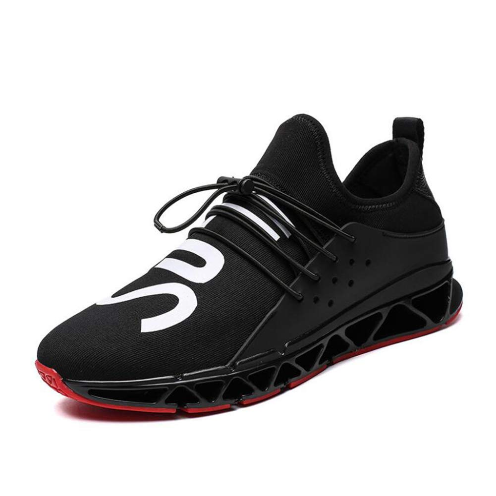 WYX 2019 Herren-Turnschuhe, Frühling Herbst Neue Männer Joggingsportschuhe Outdoor Travel Running schuhe Fashion Casual schuhe,schwarz,40