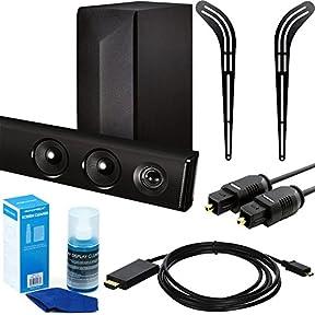 LG 2.1ch 300W Soundbar with Wireless Subwoofer and Bluetooth Standby + Mounting Bracket Bundle