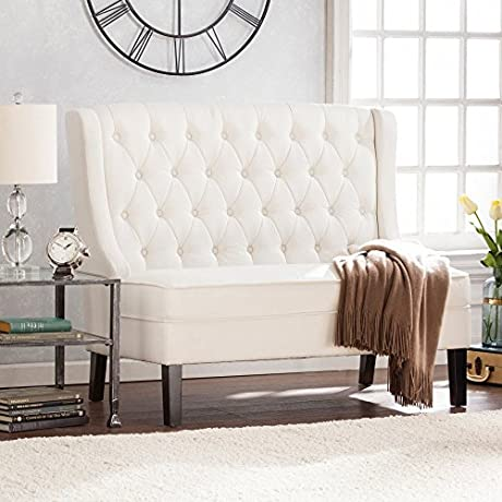 Southern Enterprises Linklea Tufted Indoor Settee Bench