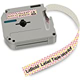 M-K231 Label Tape, LaBold 2 Rolls Unique Design Cartoon Style Black on Pink plaid Compatible for Brother Non-laminated M Series Labeling Tape MK-231 MK231 M231 12mm (0.47'') X 8m (26.2')
