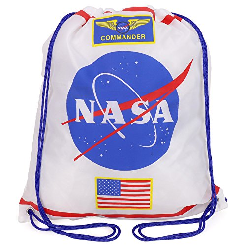 Trendy Apparel Shop Kid's NASA Astronaut Drawstring Backpack – WHITE For Sale
