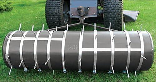 Rodillo para jardín 102 cm con 2 areator Set en plata adjuntos rodillo Césped rodillo aireador de césped: Amazon.es: Jardín