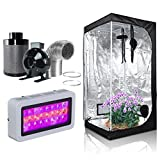 4 blower and carbon filter - Hongruilite 300w/600w LED Grow Light+Multi-sized Grow Tent+4