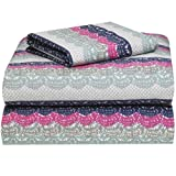 Extra Long Egg Crate Mattress Pad Vintage Blue Lace College Classic Extra-Long 3-Piece Sheet Set