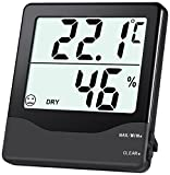 Oria Digital Hygrometer Thermometer, Indoor Humidity Monitor, Home Thermometer Meter with 4in LCD Screen, MIN MAX Record, Comfort Indicators, Room Thermometer for Home, Office, Greenhous