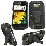 zte emblem phone cases - Phone Case for Virgin Mobile ZTE Emblem Black Silicone Corner with Hard Cover Kickstand