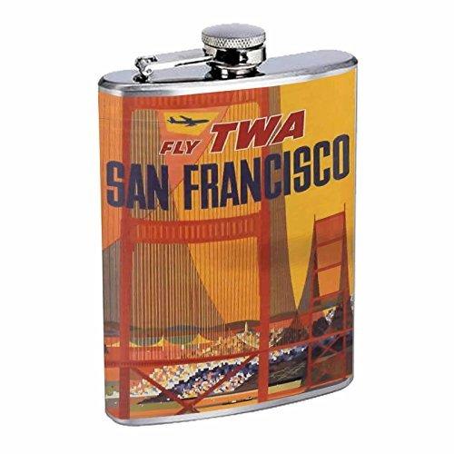 【爆売り!】 Perfection Inスタイルステンレススチールフラスコ8オンスビンテージポスターd-099 Fly Fly TWA SAN Airlines FRANCISCO Airlines B016B7K84I B016B7K84I, DIY専科:5445308b --- domaska.lt