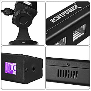 UV LED Bar Black Light Fixture, Blacklight with 4.3ft Switch Cord and 9LEDx3W for Glow Party, Halloween, Disco DJ Poster Tapestry and UV BodyPaint