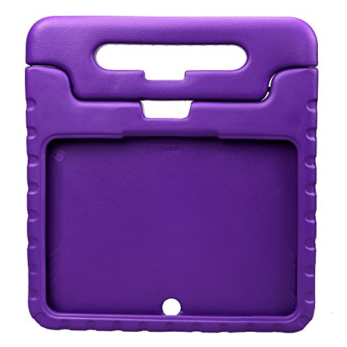 NEWSTYLE Samsung Galaxy Tab 4 10.1 Shockproof Case Light Weight Kids Case Super Protection Cover Handle Stand Case for Kids Children For Samsung Galaxy Tab 4 10.1-inch SM-T530 SM-T531 SM-T535 - Purple (Galaxy Tab 3 Case Handle)