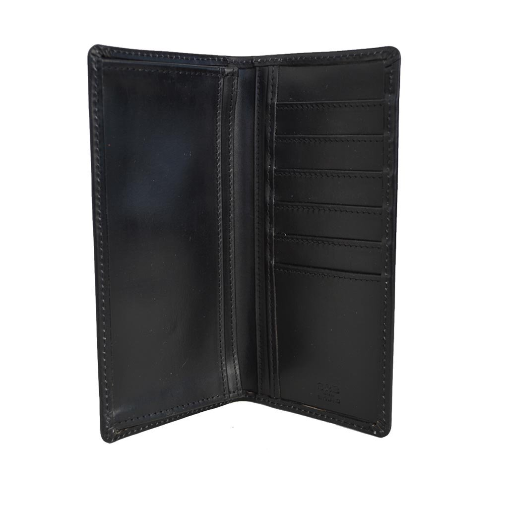 Men's Leather Slim Breast Wallet Fits All Suits Made in England, Black by Sterling & Burke