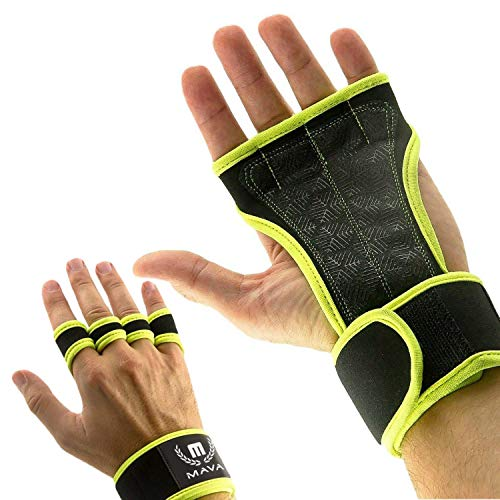 Silicone Sport Grip (Cross Training Gloves with Wrist Support for WODs,Gym Workout,Weightlifting & Fitness-Silicone Padding, No Calluses-Suits Men & Women-Weight Lifting Gloves for a Strong Grip (Lime, X-Small))