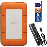 LaCie Rugged Thunderbolt USB-C 5TB Portable Hard Drive STFS5000800 Bundle