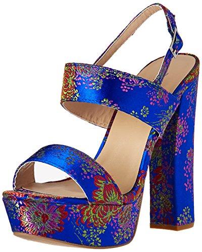 Women's Sandal Qupid Heeled Blue Multi Beat 44 ABqF6