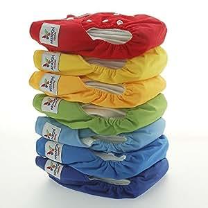 Pañales Patapum - Pack ahorro de 7 pañales (Bimbo) +14 absorbentes +1 Smart Pack Patapum.