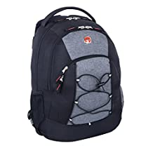 Swiss Gear Backpack with Tablet Compartment, Black Grey, Under Seat
