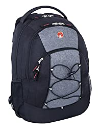 Swiss Gear Backpack with Tablet Compartment, Black Grey