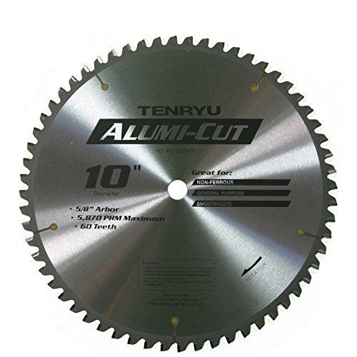 "Tenryu AC-25560DN 10"" Carbide Tipped Saw Blade ( 60 Tooth TCG Grind - 5/8"" Arbor - 0.087 Kerf)"