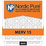 Nordic Pure 20x25x5 Lennox X6675 Replacement MERV 15 Furnace Air Filter, Quantity 4