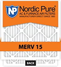 Nordic Pure 12x24x4 MERV 15 Air Condition Furnace Filter, Qty 2