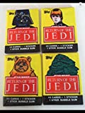 #6: 1983 Topps Star Wars (4) Unopened Wax Pack 1st Series Non-sport Trading Cards Return of the Jedi