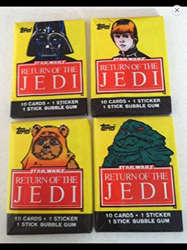 1983 Topps Star Wars (4) Unopened Wax Pack 1st Series Non-sport Trading Cards Return of the Jedi ()