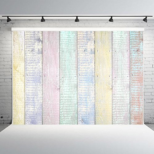 7X5FT Wood Texture Background for Photographers Vinyl Colorful Fence Photography Backdrops Studio Props (Fence Backdrop)