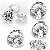BrightJewels White Cubic Zirconia AAA Quality 1 mm Star Cut Round Shape 1000 pcs loose gemstone